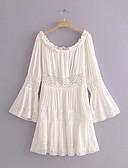 baratos Vestidos de Mulher-Mulheres Boho Bainha / balanço Vestido Acima do Joelho