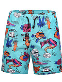 ieftine Tricou Bărbați-Bărbați Activ / Șic Stradă Larg Pantaloni Chinos Pantaloni - Animal Imprimeu Albastru piscină / Vară / Plajă