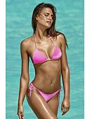 povoljno Bikini i kupaći 2017-Žene Osnovni S naramenicama Háromszög Bikini - Jednobojni, Cheeky gaćice Vezanje straga