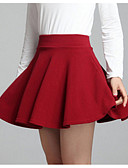 cheap Women's Skirts-Women's Going out Mini A Line Skirts - Solid Colored High Waist