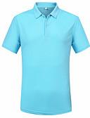 olcso Férfi pólók-Munka Állógallér Férfi Polo - Egyszínű / Rövid ujjú