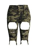 abordables Pantalones para Mujer-Mujer Básico Alta cintura Vaqueros Pantalones - camuflaje