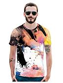 ieftine Maieu & Tricouri Bărbați-Bărbați Tricou Activ / Șic Stradă - Geometric Imprimeu