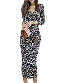 povoljno Ženske haljine-Žene Ulični šik / Sofisticirano Bodycon / Korice Haljina - S izrezom, Geometrijski oblici Midi