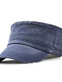 billige Hatter til herrer-Herre Kontor / Grunnleggende Militærhatt Ensfarget