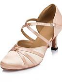 abordables Abrigos y Gabardinas de Mujer-Mujer Zapatos de Baile Moderno Satén Sandalia Tacón Carrete Zapatos de baile Nudo