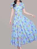 זול שמלות נשים-מידי דפוס, פרחוני - שמלה נדן סגנון רחוב / מתוחכם בגדי ריקוד נשים