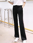 tanie Damskie spodnie-Damskie Aktywny Puszysta Bawełna Spodnie szerokie nogawki Spodnie - Frędzel, Solidne kolory Czarno-biały
