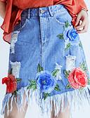 ieftine Fuste de Damă-Pentru femei Linie A Ieșire Fuste - Floral