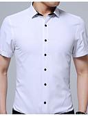 זול מכנסיים ושורטים לגברים-אחיד צווארון קלאסי רזה מידות גדולות חולצה - בגדי ריקוד גברים / אנא בחר\י מידה אחת גדולה יותר מהמידה הנורמלית שלך. / שרוולים קצרים