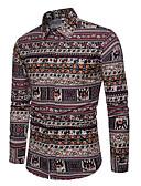 baratos Moda Íntima Exótica para Homens-camisa dos homens - colar de cor floral bloco de camisa