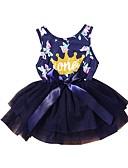 Χαμηλού Κόστους Βρεφικά φορέματα-Μωρό Κοριτσίστικα Ενεργό Γεωμετρικό Αμάνικο Βαμβάκι Φόρεμα Βαθυγάλαζο / Νήπιο