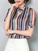 ieftine Bluză-Pentru femei În V Bluză Muncă Dungi
