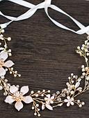 preiswerte Hochzeitsschirme-Künstliche Perle / Kupferkabel Stirnbänder / Kopfbedeckung / Kopf Kette mit Kunstperlen / Blumig 1pc / 1 Stück Hochzeit / Party / Abend Kopfschmuck