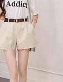 ieftine Pantaloni de Damă-Pentru femei Activ Mărime Plus Size Bumbac Pantaloni Scurți Pantaloni - Franjuri, Mată Alb negru