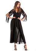 hesapli Kokteyl Elbiseleri-Kadın's Şifon Elbise Midi