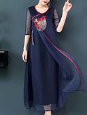 זול תחרה רומטנית-מקסי דפוס, גיאומטרי - שמלה ישרה / סווינג סגנון רחוב / מתוחכם בגדי ריקוד נשים