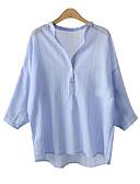 ieftine Bluze & Camisole Femei-Pentru femei Stand Tricou Bumbac Dungi