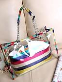 baratos Quartz-Mulheres Bolsas Poliéster / PU Conjuntos de saco 2 Pcs Purse Set Estampa Azul / Cinzento / Marron