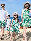 povoljno Obiteljski komplet odjeće-Obiteljski izgled Osnovni Plaža Geometrijski oblici Kratkih rukava Haljina
