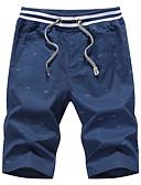 ieftine Pantaloni Bărbați si Pantaloni Scurți-Bărbați De Bază Mărime Plus Size Bumbac / In Harem / Pantaloni Scurți Pantaloni - Mată Negru & Roșu, Plasă / Găurite Albastru Deschis