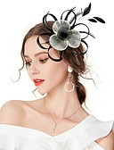 povoljno Ukrasi za kosu-Žene Kentucky Derby Vintage Elegantno Tekstil Kubični Zirconia Šeširi Vjenčanje Party / Sva doba