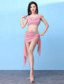 ieftine Ținută Dans din Buric-Dans din Buric Ținute Pentru femei Antrenament Modal Dantelă / Voaluri Cascadă Fără manșon Căzut Fuste / Vârf