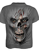 cheap Men's Tees & Tank Tops-Men's Skull / Basic T-shirt - Geometric / Skull