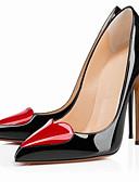 رخيصةأون دانتيل رومانسي-للمرأة أحذية PU لربيع وصيف ارتفاع كلاسيكي كعوب كعب ستيلتو حذاء براس مدبب أبيض / أسود / عاري / الحفلات و المساء