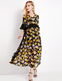cheap Women's Dresses-YHSP Women's Going out / Beach Street chic / Sophisticated Slim A Line / Chiffon / Swing Dress V Neck / Summer