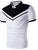 povoljno Muške polo majice-Polo Muškarci - Osnovni Dnevno / Praznik Color block Crno-bijela