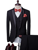 cheap Sport Watches-Men's Party Business Casual Slim Suits-Solid Colored Notch Lapel / Please choose one size larger according to your normal size.