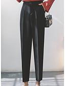tanie Modna bielizna-Damskie Garnitury Spodnie Solidne kolory Wysoka talia
