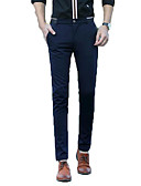 cheap Men's Blazers & Suits-Men's Street chic Suits / Chinos Pants - Solid Colored
