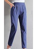 זול מכנסיים לנשים-בגדי ריקוד נשים כותנה רזה צ'ינו מכנסיים אחיד