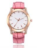 ieftine Quartz-Pentru femei Ceas Elegant Ceas de Mână Quartz Ceas Casual PU Bandă Analog Casual Modă Negru / Alb / Albastru - Rosu Albastru Roz Un an Durată de Viaţă Baterie