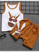 billige Sett med Gutter babyklær-Baby Gutt Vintage Daglig Svart og hvit Ensfarget Flettet Kortermet Normal Normal Lin / Rayon / Akryl Tøysett Grønn