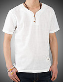 cheap Men's Shirts-Men's Chinoiserie Shirt - Solid Colored