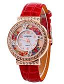 cheap Quartz Watches-Xu™ Women's Dress Watch Wrist Watch Quartz Creative Casual Watch Imitation Diamond PU Band Analog Casual Fashion Black / White / Blue - Red Blue Pink One Year Battery Life / Large Dial
