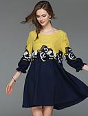 povoljno Ženske haljine-Žene Ulični šik Puff rukav  Shift Haljina - Čipka, Color block Mini