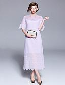 זול 2017ביקיני ובגדי ים-מקסי חלול חיצוני / קצוות תחרה שמלה נדן שרוול התלקחות סגנון סיני בגדי ריקוד נשים