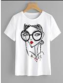 tanie T-shirt-podkoszulek Damskie Podstawowy, Nadruk Bawełna Luźna - Geometryczny / Lato