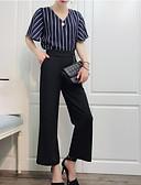 baratos Maiô-Mulheres Sofisticado Blusa - Estampado, Sólido / Listrado Calça