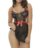 cheap Sexy Bodies-Women's Suits Nightwear - Mesh Jacquard Black M L XL / Strap