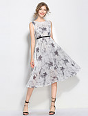 cheap Plus Size Dresses-SHIHUATANG Women's Vintage / Street chic A Line / Swing Dress - Floral Print