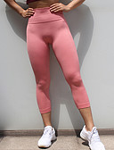 billige Tights-Dame Sporty Tights - Ensfarget Medium Midje