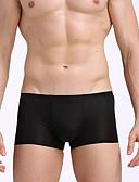 abordables Ropa Interior y Calcetines de Hombre-Hombre Normal Boxer - Básico, Un Color / Cuadrícula Media cintura Verde Ejército Gris Claro Azul Real XL XXL XXXL