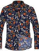 abordables Camisas de Hombre-Hombre Básico / Boho Camisa Geométrico / camuflaje Mariposa