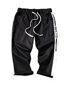 povoljno Muške duge i kratke hlače-Muškarci Pamuk / Lan Kratke hlače Hlače Jednobojni