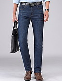 povoljno Muške duge i kratke hlače-Muškarci Osnovni Traperice Hlače Jednobojni / Geometrijski oblici